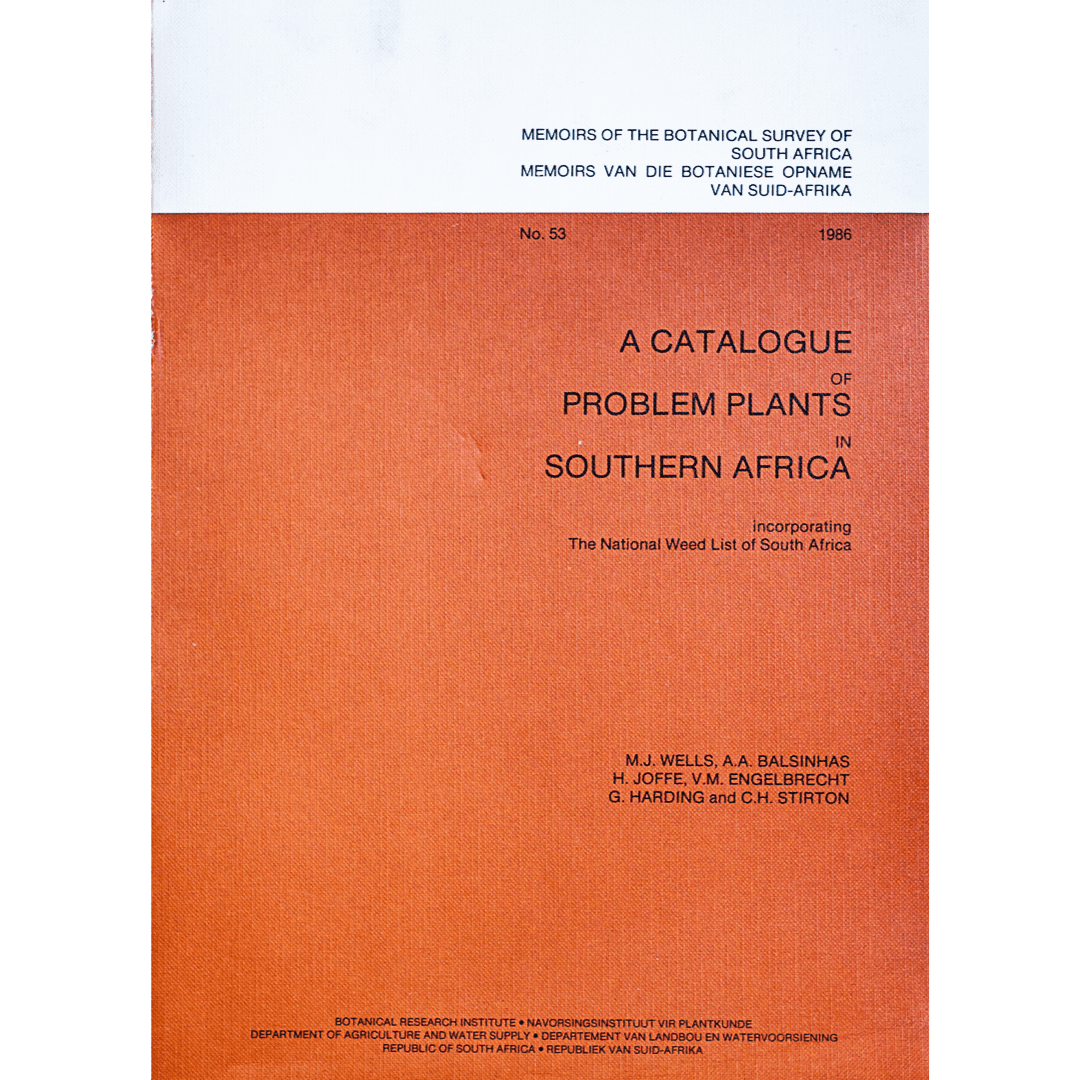A catalogue of problem plants in souther africa f