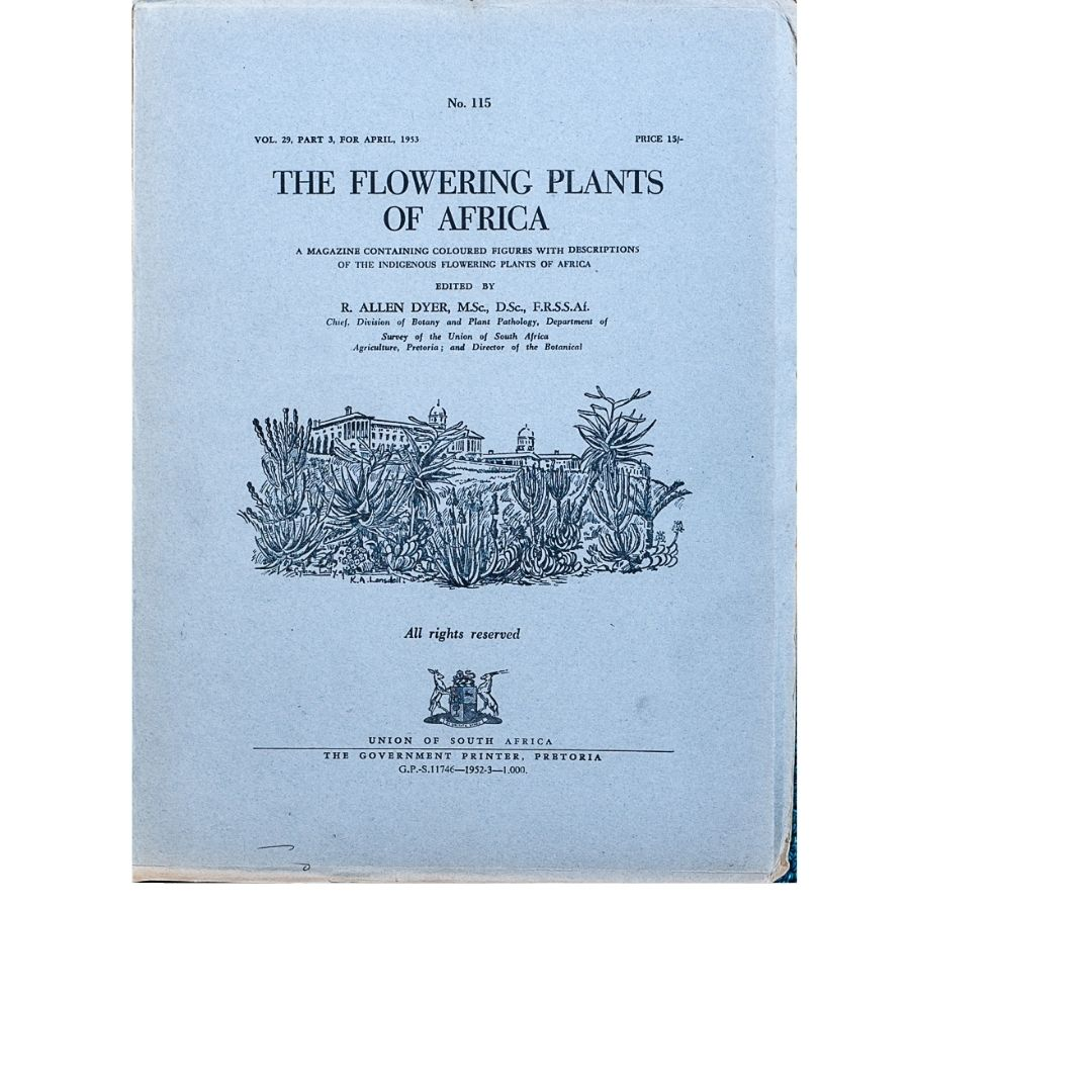 The Flowering plants of Africa No 115