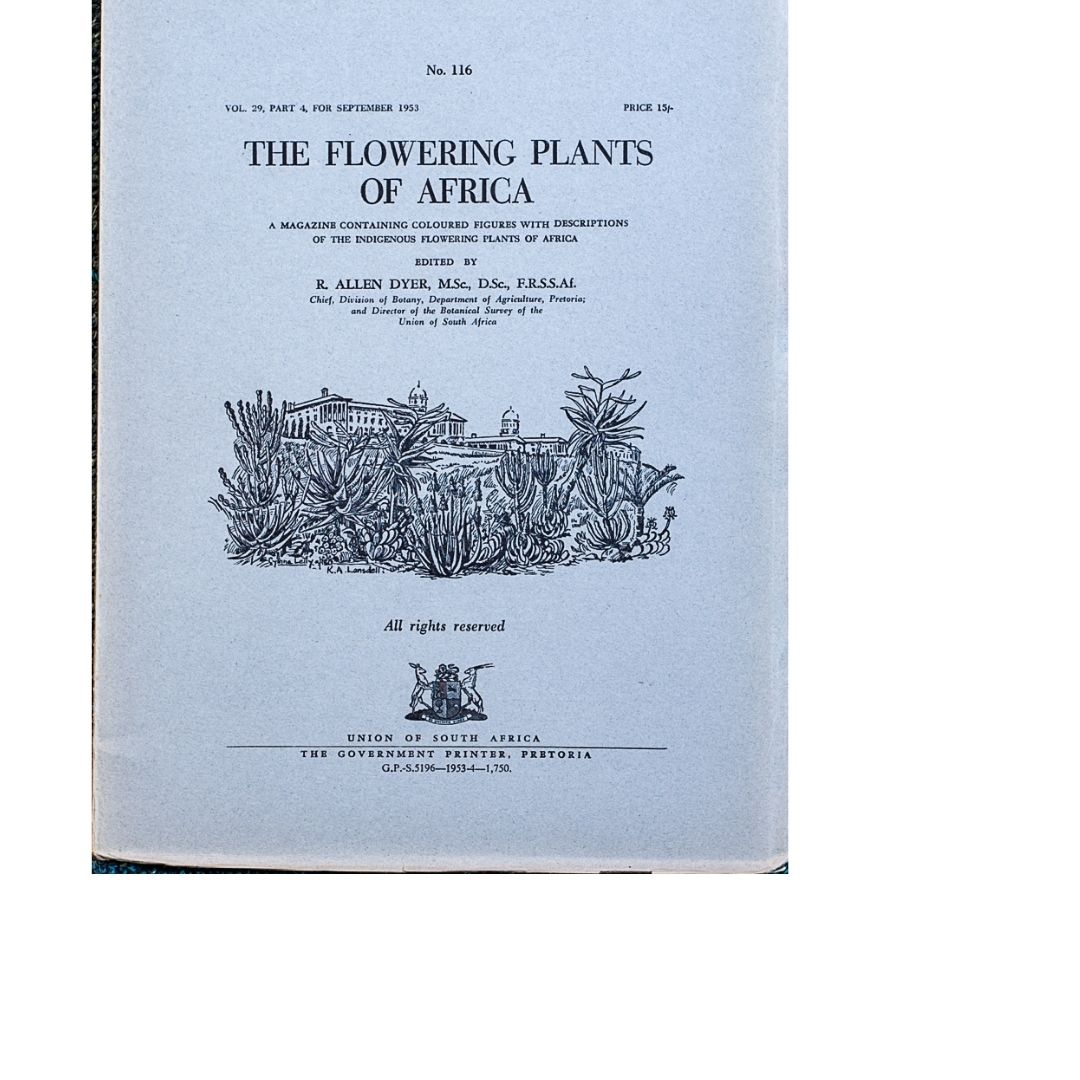 The Flowering plants of Africa No 116