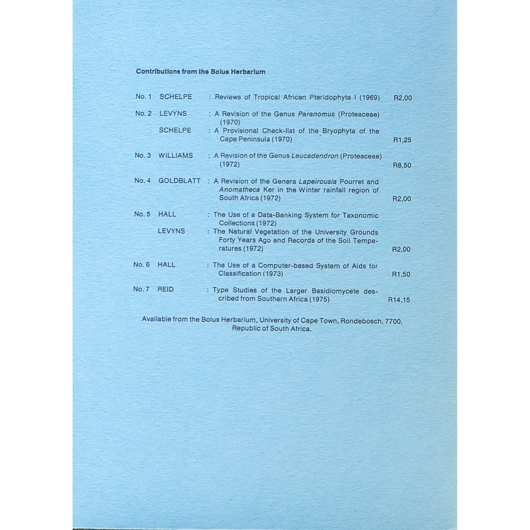 Contributions from the bplus herbarium No 8 Part 2 b